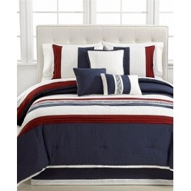 Ethan 7 Piece California King Embroidered Comforter Set