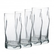 Bormioli Rocco Sorgente Cooler Glasses, Set of 4, Made in Italy