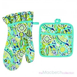 2 Piece Set oven mitt & Pot Holder -
