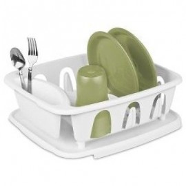 Sterilite White Small Ultra Sink Set, (2 Piece) by STERILITE