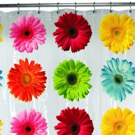 Maytex Gerbera Daisy PEVA Shower Curtain