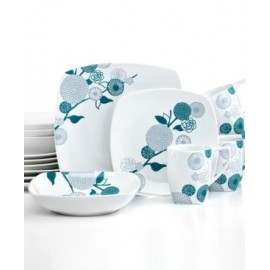 222 Fifth Dinnerware, Gia Turquoise 16 Piece Set