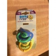 Bornfree Orthodontic Silicone Pacifier (2 pack), Stage 2, 6+ months