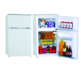 BRUHM BRS-95 - DC & SILVER AND BLACK REFRIGERATOR