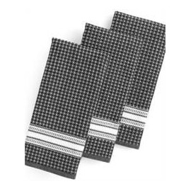 Martha Stewart Collection Kitchen Towels, Set of 3 Waffle Weave Green