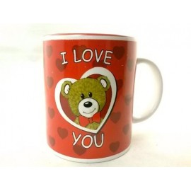 Red Ceramic Teddy Bear I Love You Mug 1 ct St Valentines Day Gift Idea