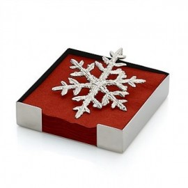 Michael Aram Napkin Holder, Snowflake Cocktail Napkins
