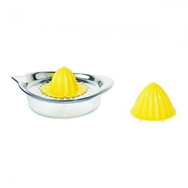 SPRITTA Citrus squeezer, transparent, yellow stainless steel