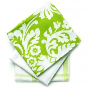 Mahogany Damask Print 20-Inch by 30-Inch Kitchen Towels, Cotton, Set of 3