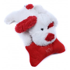 Plush Dog with Red 'I Love You' Bone by Beverly Hills Teddy Bear Co