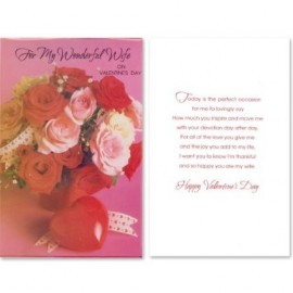 """Cards """"For My Wonderful Wife"""" -Affordable Gift for your Loved One!"""