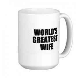 World's Greatest Wife Gift Coffee Cup Mug