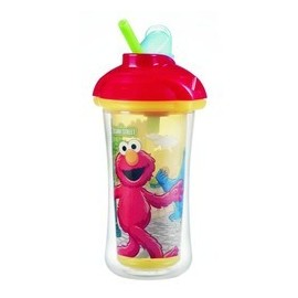 Munchkin Sesame Street Click Lock Insulated Straw Cup, 9 Ounce, Designs May Vary by Munchkin