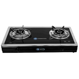 Haier Thermocool Table Top Gas Cooker 2 Hob Glass Top Luxury