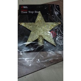 Christmas Tree Topper Decoration Ornament 20cm Glitter Star  (Gold,Red,Red&Gold)