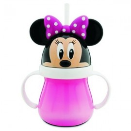 Minnie Mouse Head Cup with Handle and Straw - Minnie Mouse Kids Cup