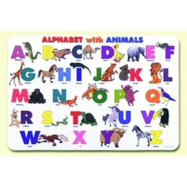 Alphabet With Animals Placemat by Painless Learning