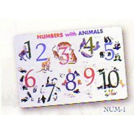 Numbers With Animals Placemat by Painless Learning