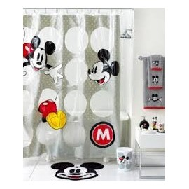 Disney Bath Accessories, Disney Mickey Mouse Shower Curtain