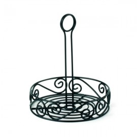 Spectrum 46010 Scroll Condiment Stand, Black