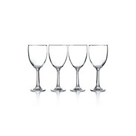 Martha Stewart Collection Glassware, Set of 4 Wine Glasses Clear