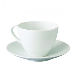 Teacup with saucer, white