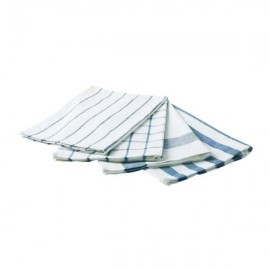 ELLY Tea towel, white, blue
