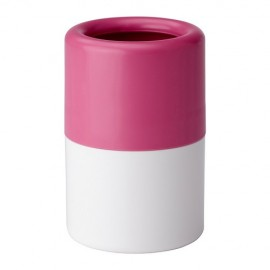 LOSJÖN Toothbrush holder, pink/white