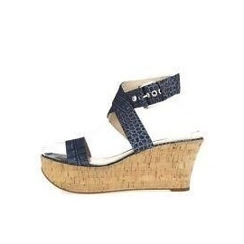 Via Spiga Strappy Croc Sandals