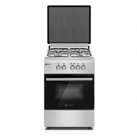Haier Thermocool TEC Premium Cooker (50cm x 60cm) with 4 Gas Burners (Silver) TPC 504G