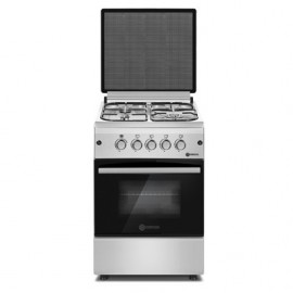 Haier Thermocool TEC Luxury Cooker (50cm x 60cm) with 4 Gas Burners (Silver) TLC 504G