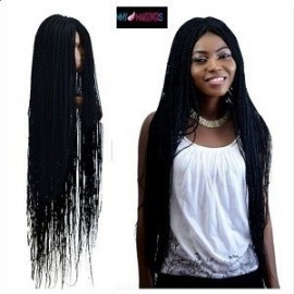 Twisted and braided Wigs Caps 22 inch