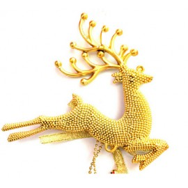 Christmas Tree top decoration Gold  Reindeer