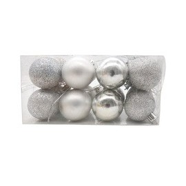 Christmas Ball  set of 16pcs 80mm Shatterproof Ornaments/Decorations Silver