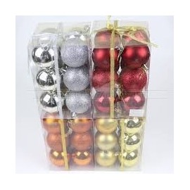 Christmas Ball  set of 8pcs Shatterproof Ornaments/Decorations Red/Gold & Silver