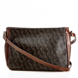 Square Tumbled Faux Leather Crossbody